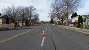 Kennewick's Stripe Rite traffic control services on road