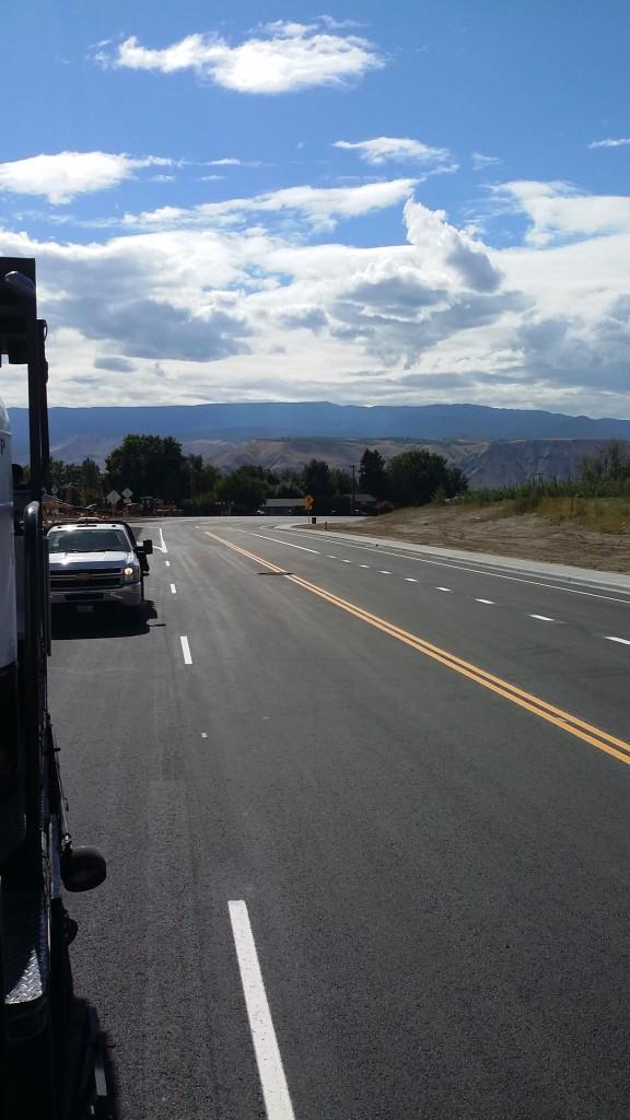 Painting Roads in East Wenatchee