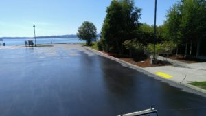 Seal Coat Project at Silverdale Boat Launch