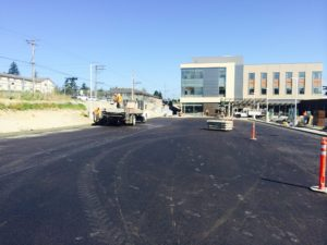 Jefferson Healthcare Extruded Curb in Port Townsend