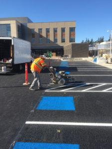 Jefferson Healthcare Parking Lot Striping by Stripe Rite