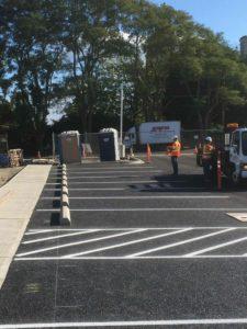 Jefferson Healthcare Parking Stripes in Port Townsend