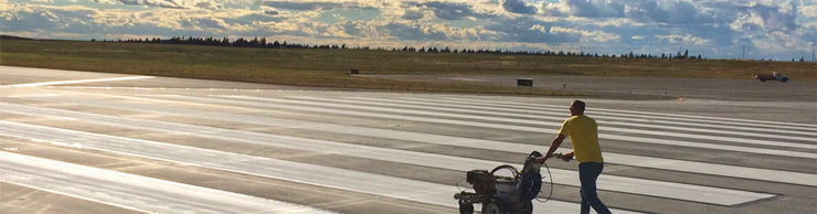 Stripe Rite's Airport Painting Runway