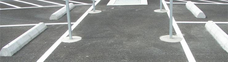 Wheel Stops in Parking Lot by Stripe Rite