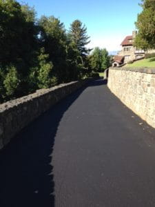 A Yakima road after seal coat is applied