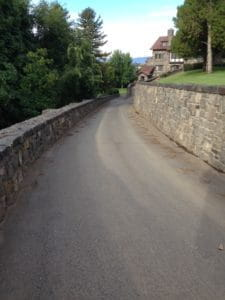 A road without seal coat applied