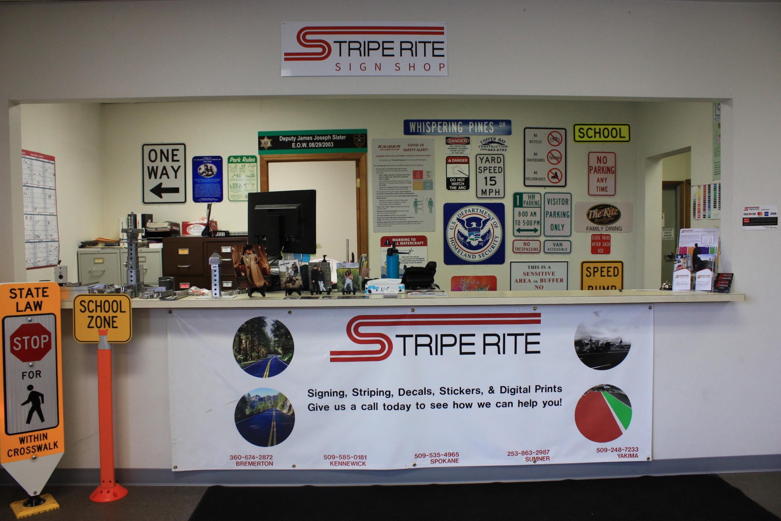Stripe Rite Spokane Sign Shop