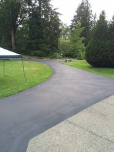 Seal coat project in Monroe, WA by Stripe Rite