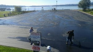 Seal Coat at Silverdale Boat Launch by Stripe Rite