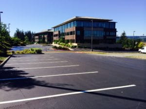 Seal Coat and Stripe at Highland Business Park in Silverdale