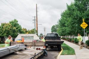 Spokane Stripe Rite employees on a project