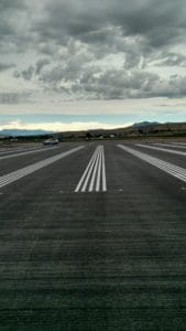 Wenatchee Airport White Stripes
