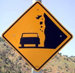 Falling Cows Signs