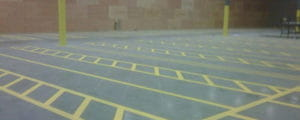 Warhouse lane markings